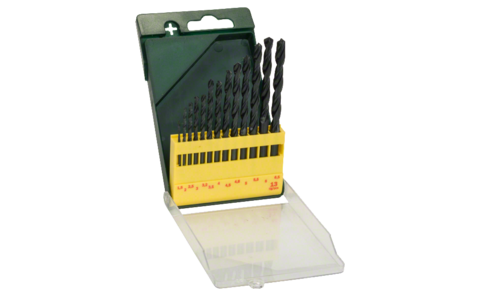 13-piece HSS-R metal drill bit set | Metal drill bit set for precise drilling in iron, steel, non-ferrous metals, grey cast iron and hard plastics. Bit diameters in 0.5 mm steps from 1.5-6.5 mm.