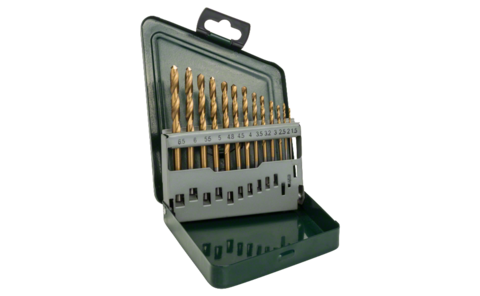 13-piece HSS-TiN metal drill bit set | Set containing high-performance metal drill bits with high-grade titanium nitride coating, for a particularly long service life and fast drilling progress. Bit diameters in 0.5 mm steps from 1.5-6.5 mm.
