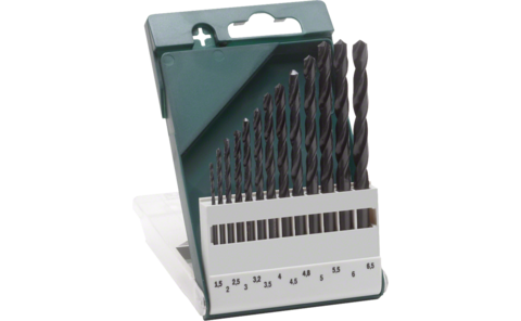 13-piece metal drill bit set HSS-R, DIN 338 |
