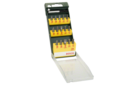 16-piece screwdriver bit set | Ideally equipped to handle virtually any screwdriver task: Screwdriver bit set in a clearly structured sorting box for all screwdriving and mounting jobs.
