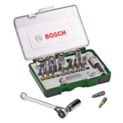 27-piece screwdriver bit and ratchet set