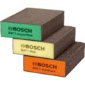 3 éponges abrasives, flat+edge