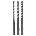 3-piece concrete drill bit set SDS-Quick
