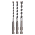 3-piece multi-purpose drill bit set SDS-Quick