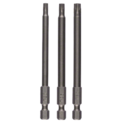 3-piece screwdriver bit set for internal Torx screws (T)