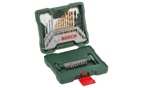 30-piece X-Line Titanium set | Ideally equipped to handle virtually any task: Set for precise, clean drilling in metal, masonry and wood, as well as high-grade screwdriver bits for the most commonly used screw head types.