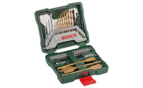 40-piece X-Line Titanium set | Ideally equipped to handle virtually any task: Very well equipped basic set in a robust case. All standard drill and screw components for wood, masonry and metal jobs are included.