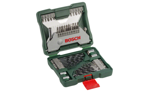 43-piece hex drill bit X-Line set | Ideally equipped to handle virtually any task: Very well equipped basic set in a robust case. All standard drill and screw components for wood and metal jobs are included.