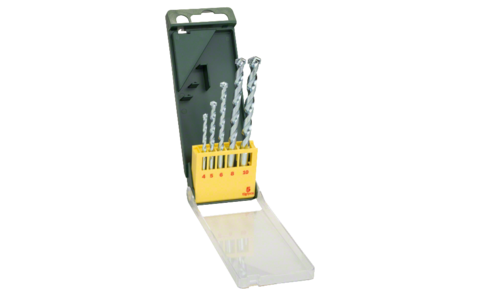5-piece masonry drill bit set | Ideal for virtually any fixing/attachment project: Masonry drill bit set for precise drilling in masonry, limestone, natural stone and cast stone.