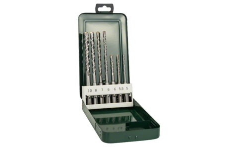 7-piece hammer drill bit set SDS-plus |