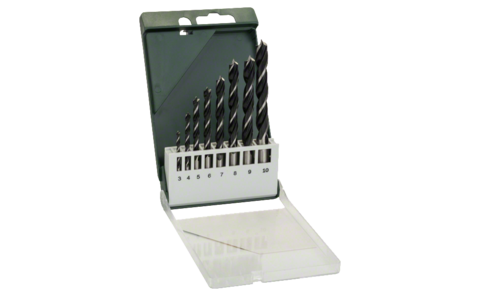 8-piece brad point drill bit set |