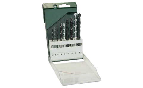 9-piece drill bit set: HSS-R metal/stone/wood |