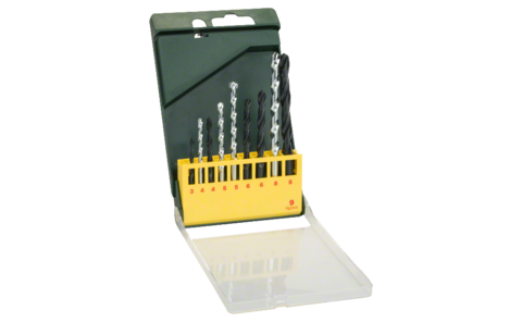 9-piece metal and masonry drill bit set | Ideally equipped to handle virtually any task: Metal and masonry drill bit set for the most common applications in masonry and metal.