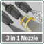 3-in-1 multi-purpose nozzle
