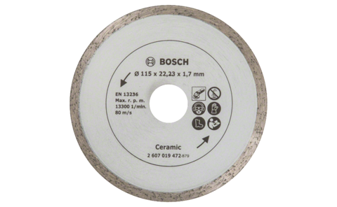 Diamond cutting disc for tiles, Ø 115 mm | The specialist for tiles: Diamond cutting disc Ø 115 mm, for precise, clean cuts without broken edges, in soft and hard tiles.