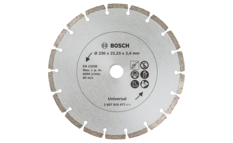 Diamond cutting discs for construction material, Ø 230 mm | Ideally equipped to handle virtually any task: Diamond cutting discs Ø 230 mm, for precise, clean cuts in various construction materials.