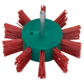 Flap brush for drills – Nylon wire with aluminium oxide coated abrasive K80