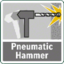 Pneumatic hammer mechanism