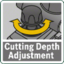 Cutting depth adjustment handle