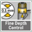Routing depth fine adjustment