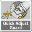 Protective guard quick adjustment