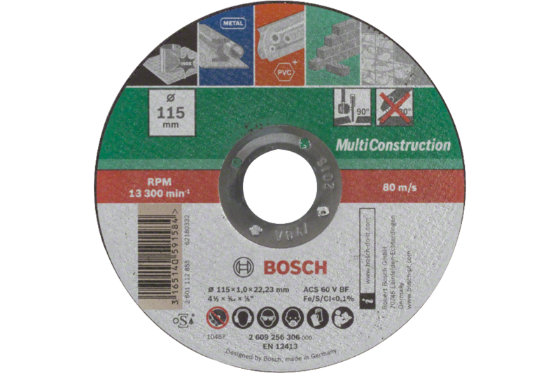 Cutting disc, straight, MultiConstruction