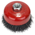 Wire cup brush for angle grinders and straight grinders – Crimped wire