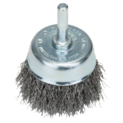 Wire cup brushes for drills – Crimped wire, 50 mm
