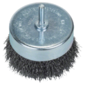 Wire cup brushes for drills – Crimped wire, 80 mm