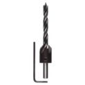 Wood drill bit with countersink
