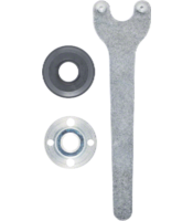 Clamping element set for small angle grinders