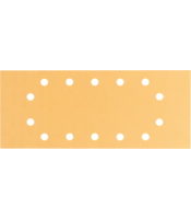 C470 sanding sheets for orbital sanders, Best for Wood and Paint, 115x280 mm, 14 holes