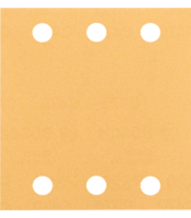 C470 sanding sheets for orbital sanders, Best for Wood and Paint, 115x107 mm, 6 holes