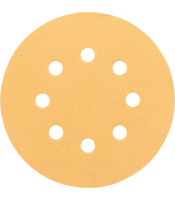 C470 sanding sheets for random orbit sanders, Best for Wood and Paint, 125 mm diameter, 8 holes