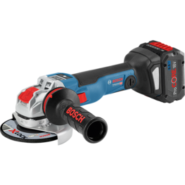 Cordless angle grinders with X-LOCK