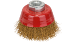 Clean for Metal Wire Cup Brushes, Crimped Wire, Brass-Coated