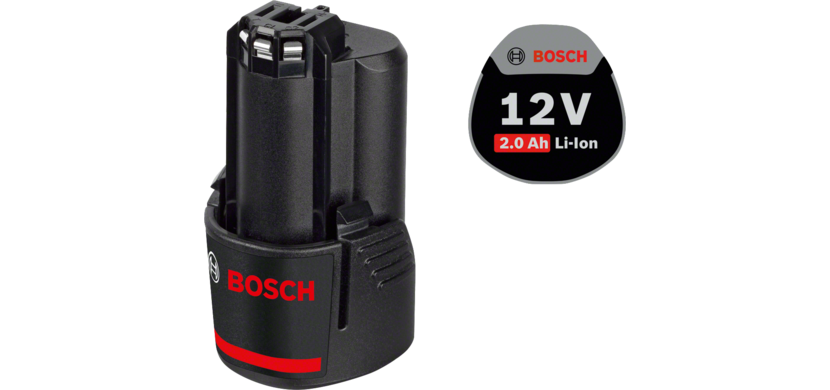 Professional FlexiClick Drill Driver GSR 12 V-15 FC + 2 x 2.0 Ah batteries + EXTRA 2.0 Ah battery and USB Charger in L-BOXX